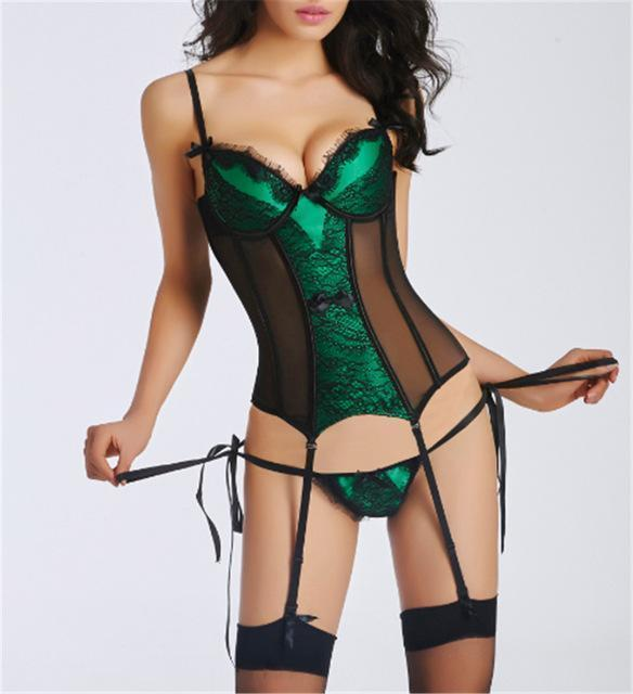 Corset and Bustier with cup Girdle Set with Straps - Very Goodeals