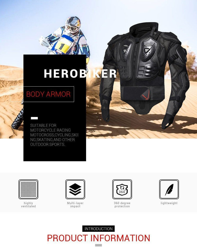 HEROBIKER Motorcycle Full Body Armor Protective Jacket - Very Goodeals