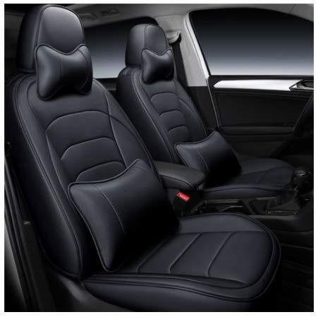 Leatherette Custom Fit Front and Rear Car Seat Covers Compatible with Honda Brio, (Black)