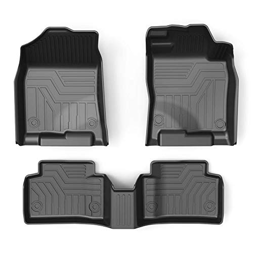 5D+ Weathertough Front & 2nd Seat TPV Floor Liners Mats Compatible with Jeep Compass