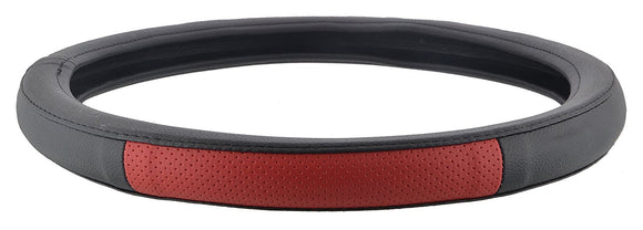 ExtraPGrip Anti-Slip Car Steering Wheel Cover Compatible with Volkswagen Polo, (Black/Red)