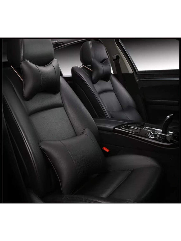 Leatherette Custom Fit Front and Rear Car Seat Covers Compatible with Hyundai Xcent, (Black)