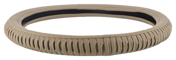 EleganceGrip Anti-Slip Car Steering Wheel Cover Compatible with Mahindra Quanto, (Beige)