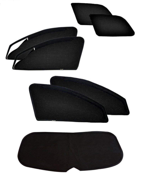 ZipCombo Side Window Magnetic Zipper Sun Shades with Rear Window Sun Shades Compatible with Toyota Innova, Set of 7
