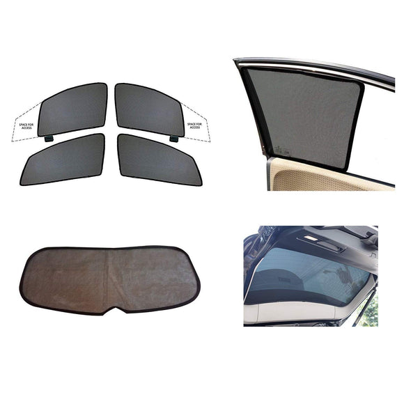 HalfCombo Side and Rear Window Sun Shades Compatible with Honda Amaze (2011-2017), Set of 5