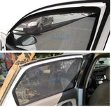 Hi Art Magnetic Side Window Zipper Sun Shade Compatible with Maruti Swift Dzire (2013-2016), Set Of 4