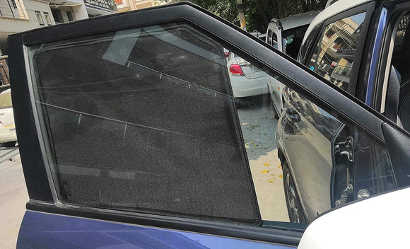Side Window Non-Magnetic Sun Shades Compatible with Maruti Alto K10 (2010-2014)