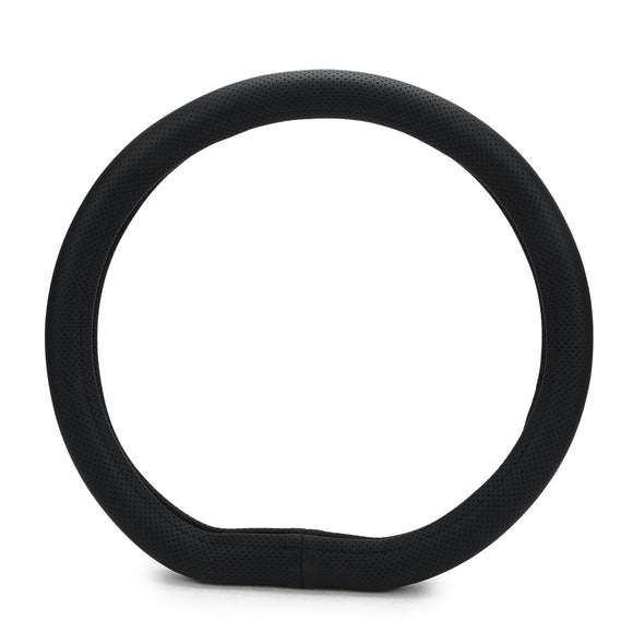 ExtraGripDshape10 Flat Bottom D-Shape Anti-Slip Steering Wheel Cover Compatible with Maruti Suzuki Ertiga (2018-2020), Black