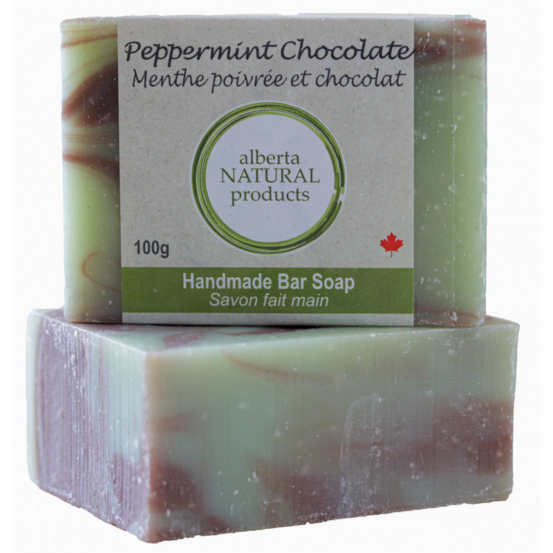PEPPERMINT CHOCOLATE SOAP 100G