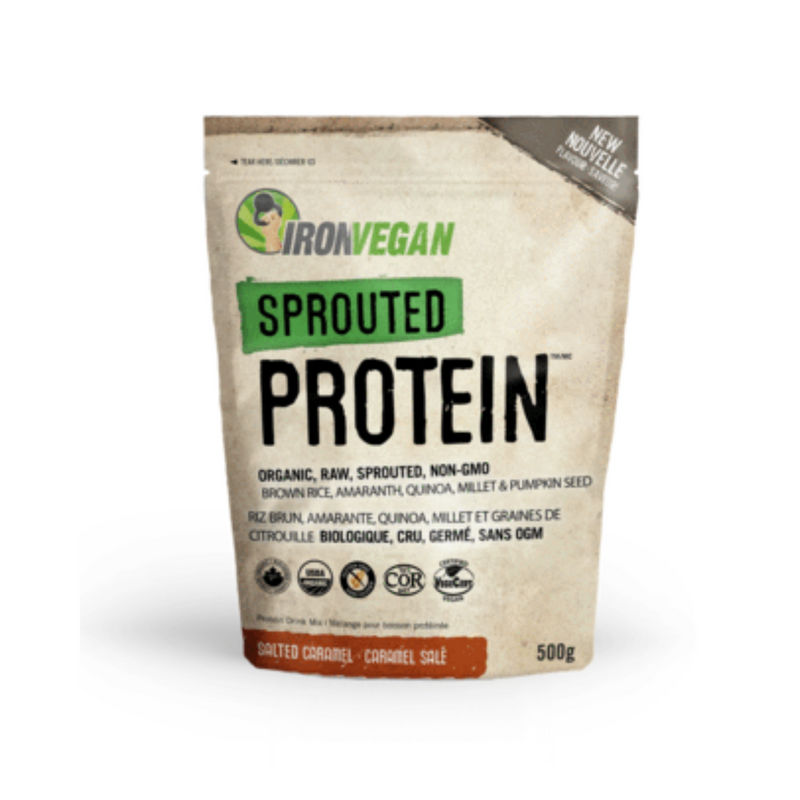 IRON VEGAN sprouted PROTEIN SALTEDCARAMEL 500G