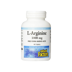 NATURAL FACTORS ARGININE 1000MG 90'T