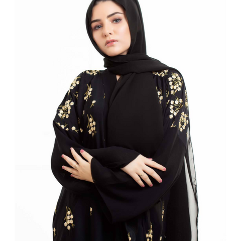 embroidery abaya design