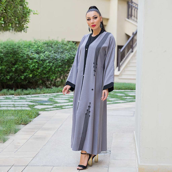 patterned-lines-grey-abaya