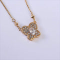 Necklace Butterfly Gold Glowy Pendant