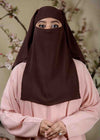 Dark brown Three Layered Niqab