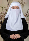 White Three Layered Niqab