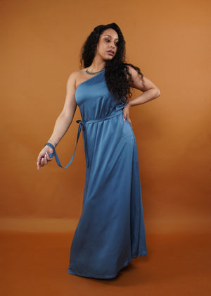 Athena Blue Silk