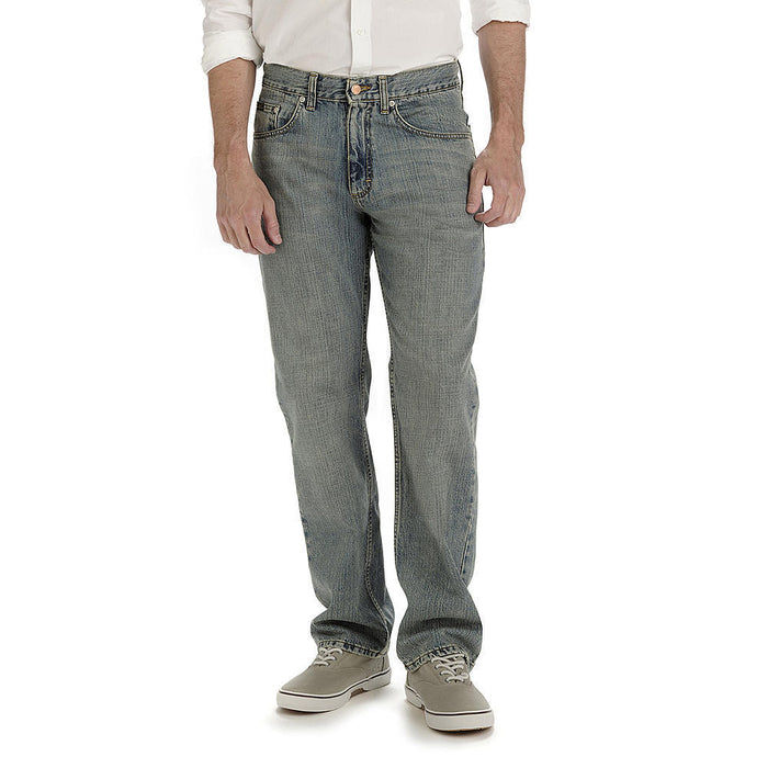 NEW LEE Premium Relaxed Straight Leg Jeans Mens FADED LIGHT