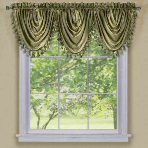 Achim Ombre Waterfall Valance- OMWFVLSG06 Valance