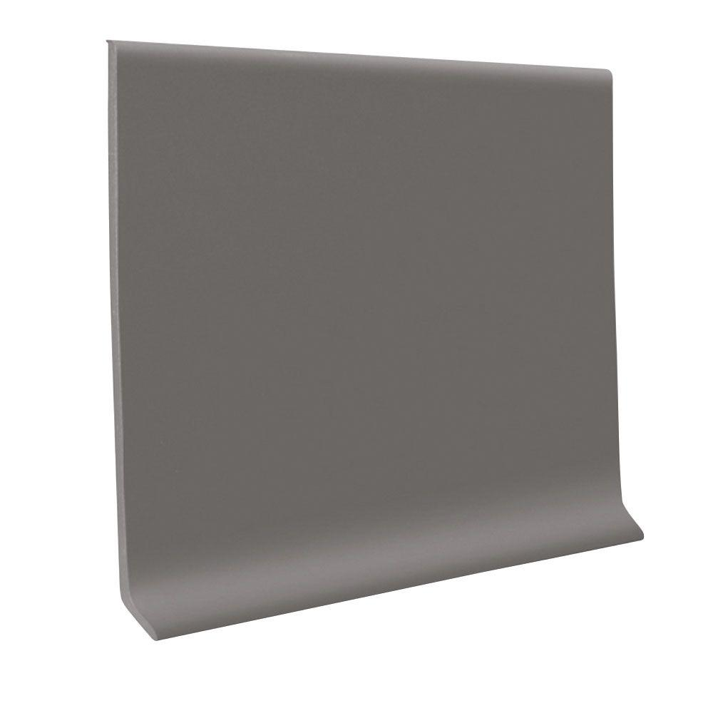 Dark Gray 4 in x 1/8 in x 120 ft Thermoplastic Rubber Wall Cove Base Coil