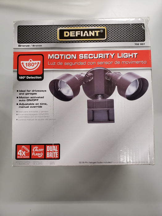 Defiant 180-Degree Motion Outdoor Security Light Bronze Color DF-5599-BZ-A