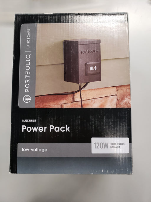 Portfolio 120-Volt Multi-Tap Landscape Lighting Transformer with Digital Timer (Model 8201080399-2)