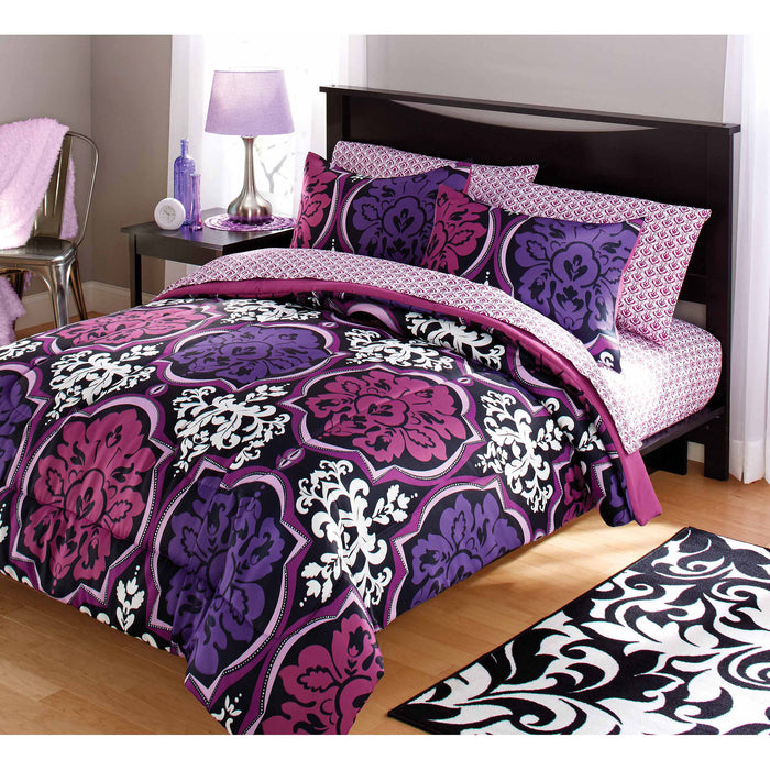 Your Zone Dotted Damask Comforter Set