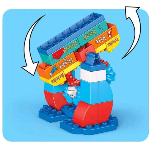 Mega Bloks Dr. Seuss 1 & Thing 2 Tricks Building Set 29 Piece Toy Kid Great Gift