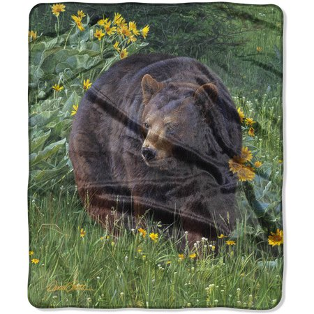 "The Northwest Heritage Royal Plush 50"" x 60"" Scent of Spring Raschel Throw Blanket, 1 Each"