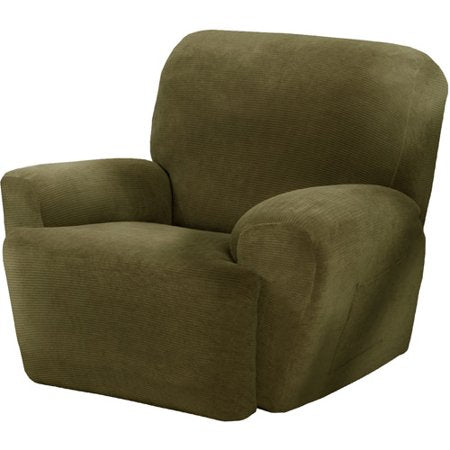 Maytex Stretch Collin 4 Piece Recliner Chair Furniture Cover Slipcover