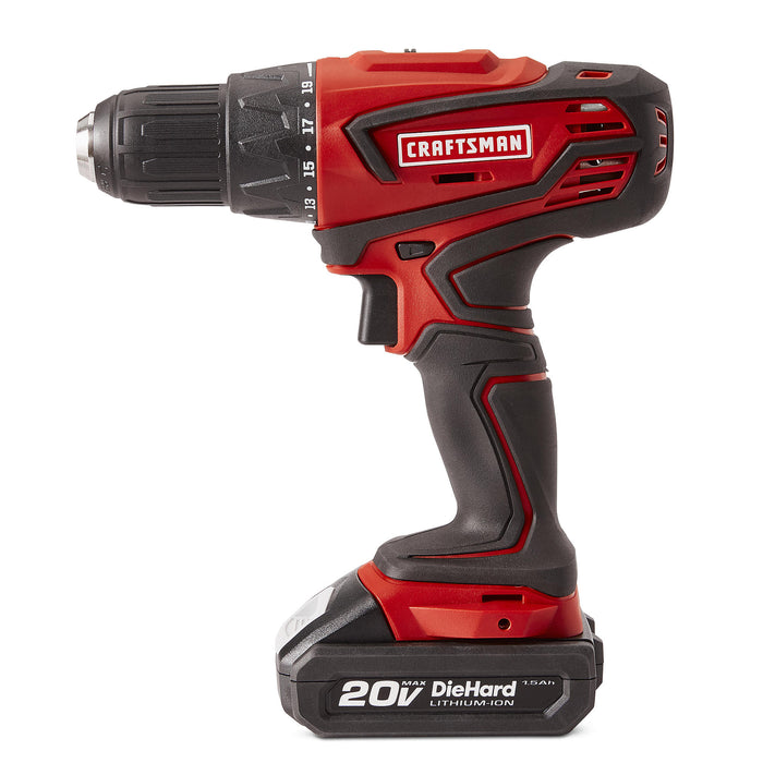 Craftsman 20V MAX Cordless Drill and Impact Driver Combo Kit