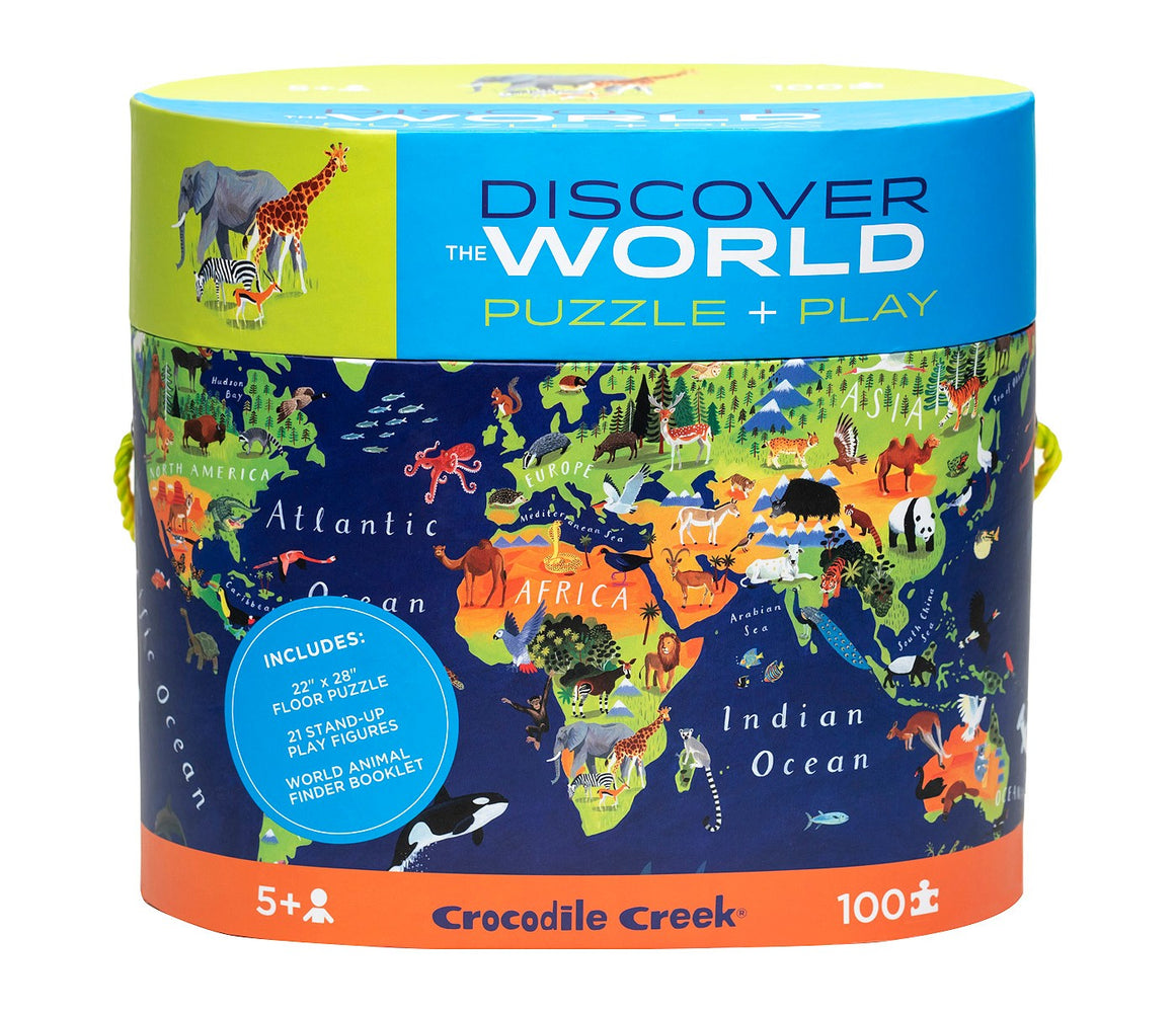 Discover World Map Puzzle - 100 pc Helps your child with basic geography skills