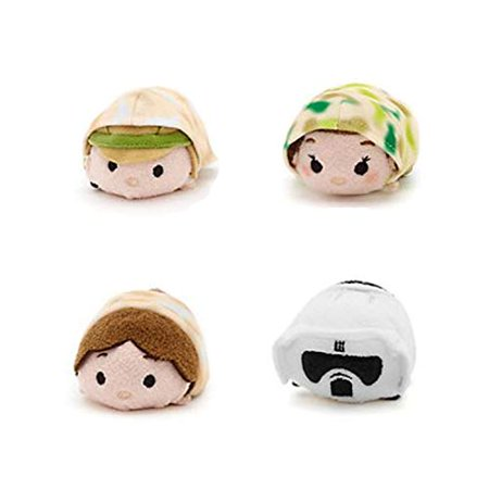 Tsum Tsum Disney Star Wars Plush Collector Set # 3 (4 Pack) Endor
