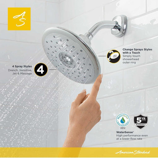 American Standard Bathroom Fixed Showerhead Spectra Touch 4 Spray 7 in Chrome