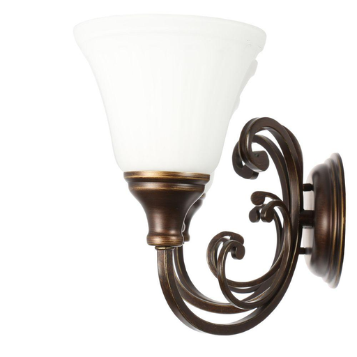 Hampton Bay Somerset 3-Light Bronze Vanity Light with Bell Shaped Frosted