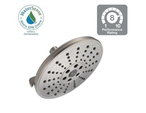 "Delta 75356SN H2Okinectic 8"" Showerhead - Brushed Nickel"
