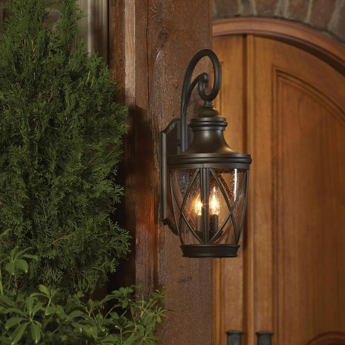 allen + roth Castine 14.41-in H Bronze Medium Base (E-26) Outdoor Wall Light