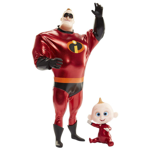Incredibles 2 Mr Incredible & Jack Jack Action Doll Set