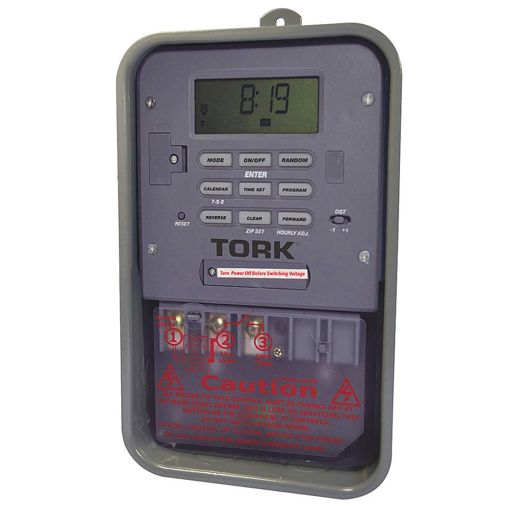 Electronic Timer, 7 Days, SPST, Each