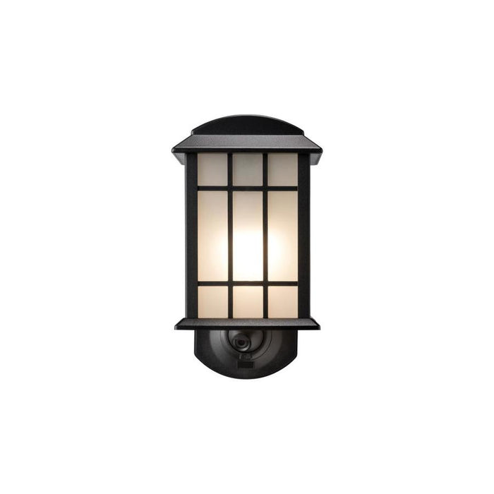 Maximus 6-in H Textured Black Motion Activated Dark Sky Outdoor Wall Light