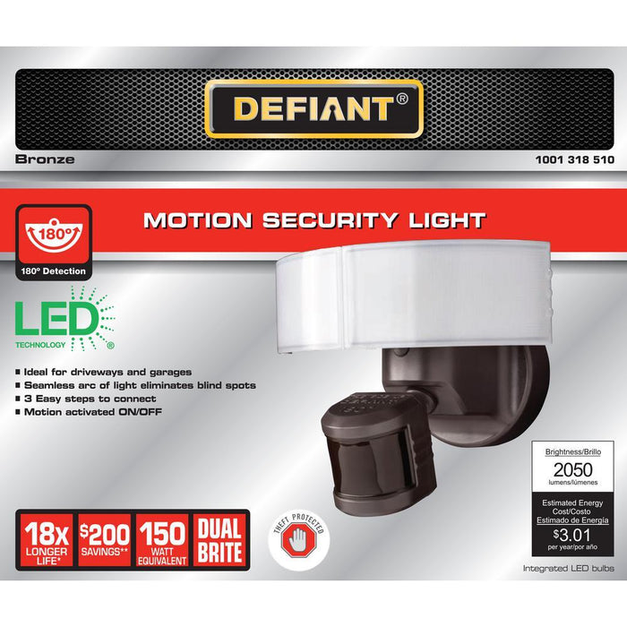 Defiant 180 Bronze LED Motion Outdoor Security Light
