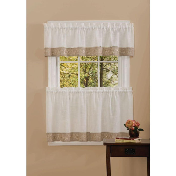 Achim Semi-Opaque 14 in. L Oakwood Natual Valance in Natural