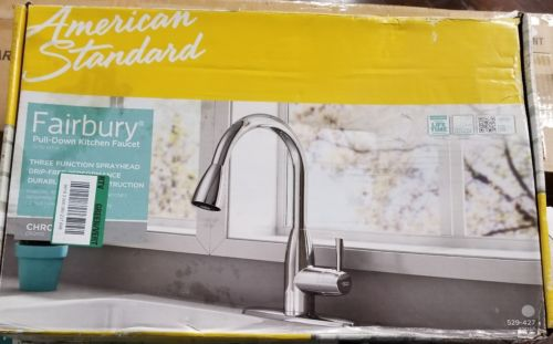 American Standard 4005F Fairbury 1Handle Pull Down Sprayer Kitchen Faucet Chrome