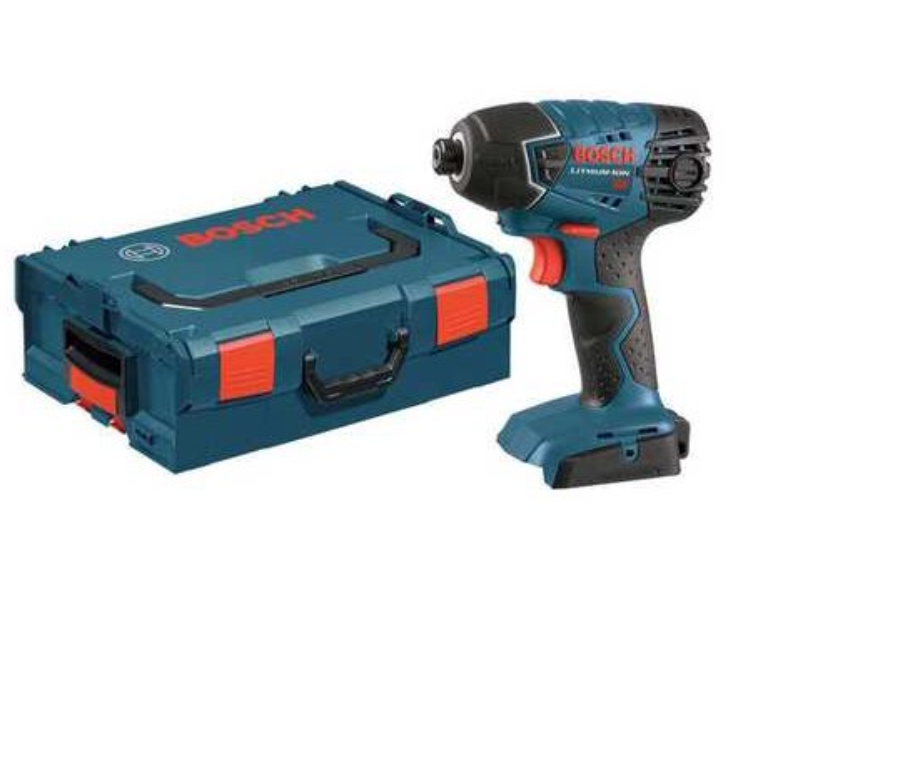 "BOSCH 25618BL 18V 1/4"" Cordless Impact Driver, Storage Case"