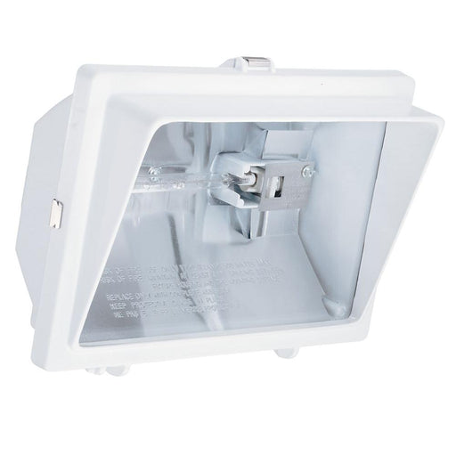 1-LAMP WHITE OUTDOOR FLOOD LIGHT