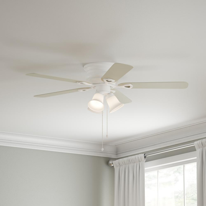 Clarkston 44 in. Indoor White Ceiling Fan with Light Kit