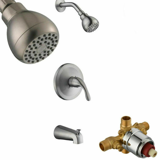 Glacier Bay Builders 1-Handle 1-Spray Tub Shower Faucet Bathroom Brushed Nickel