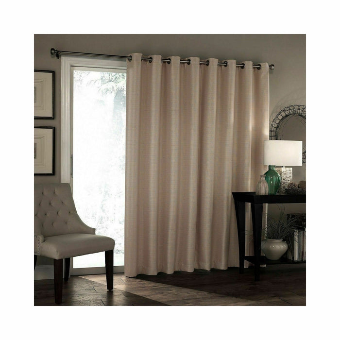 "Eclipse Bryson Grommet-Top Patio Door Curtain Panel 100"" X 84"" Wheat Free ship!"