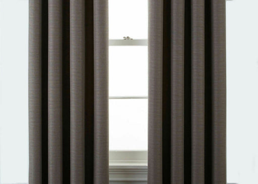 "JCPenney Home - Luxury Quinn Basketweave Grommet Panel Curtains - Taupe 50""x84"""