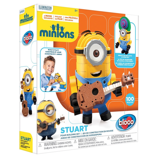 Bloco Toys Minion Stuart Foam Construction Set ON SALE NOW!